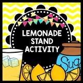 Life Skills Reading Writing and Math: Lemonade Stand - Summer Activity