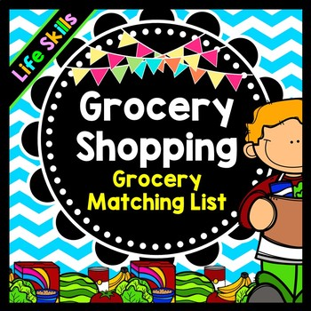 Life Skills Reading and Grocery Shopping: Matching Recipes to Grocery Items
