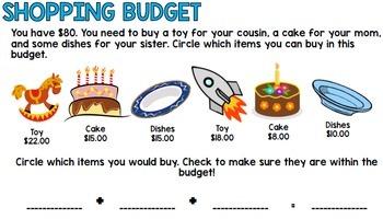Life Skills Reading and Math: Budgets FREEBIE