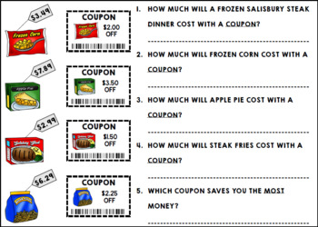 Life Skills Reading and Math: Coupons - Ultimate Bundle Pack