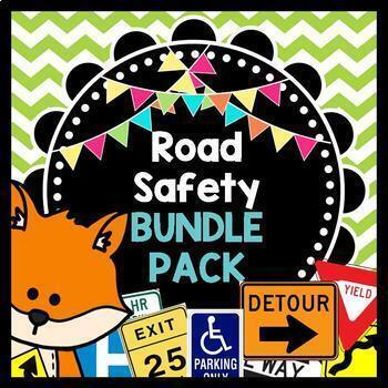 Life Skills Reading and Math: Road Signs + Driving Safety BUNDLE