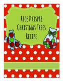 Life Skills Reading and Writing: Christmas + Holiday Recipes, Rice Krispie Tree