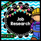 Life Skills Reading and Writing For Jobs: Career Research