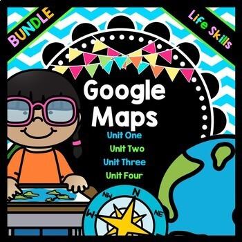 Life Skills Reading and Writing: Google Maps BUNDLE PACK
