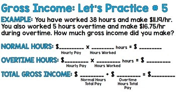 Life Skills Reading and Writing: Gross Pay Versus Net Pay