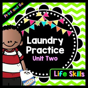 Life Skills Reading and Writing: How to Do Laundry - Cloth