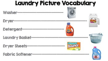 Life Skills Reading and Writing: How to Do Laundry - Vocabulary Practice