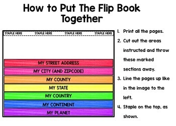 Life Skills Reading and Writing: Me on a Map - INTERACTIVE FLIP BOOK Unit 2