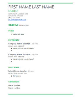 Life Skills Reading and Writing: Resume Writing for Jobs