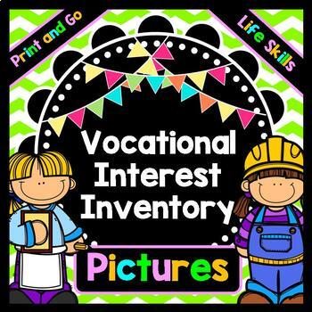 Life Skills Reading and Writing: Vocational Interest Assessment - JOBS!