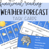 Reading Skills: Reading the Forecast Task Cards