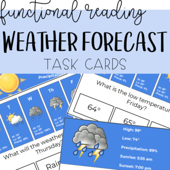 Functional Reading: Reading the Forecast Task Cards