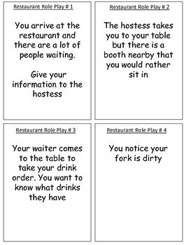 Life Skills - Restaurant Skills/Eating Out