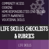 Life Skills Rubric and Checklist Bundle. Special Education