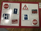 Life Skills: Safety Sign Picture Match File Folder Game