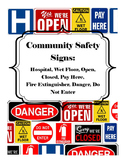 Life Skills- Safety Sign Word and Picture Match