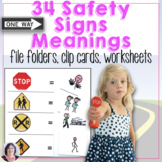 Life Skills Safety Signs Meanings Activity now with more signs
