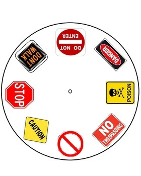Life Skills - Safety Signs Wheel