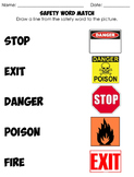 Life Skills: Safety Words and Pictures