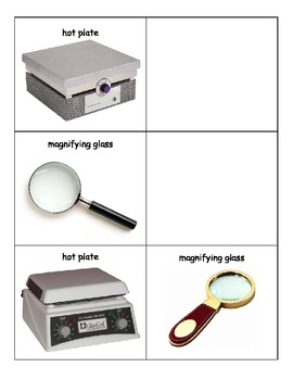 Life Skills: Science Equipment/Tools Match