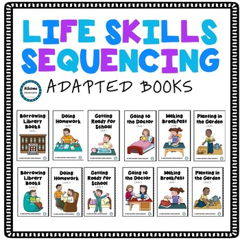 Life Skills Sequencing Adapted Books (sped/autism)