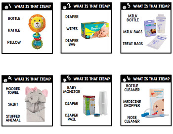 Life Skills - Sex Education - Having a Baby - Baby Items - Task Cards