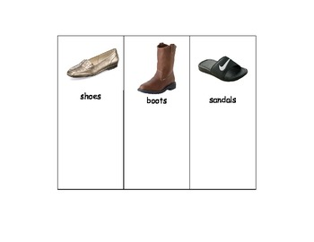 Special Education: Shoes, Boots or Sandals - Sort