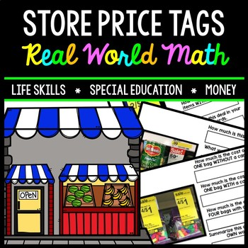 Life Skills - Shopping - Store Price Tags - Special Education - Math - Money