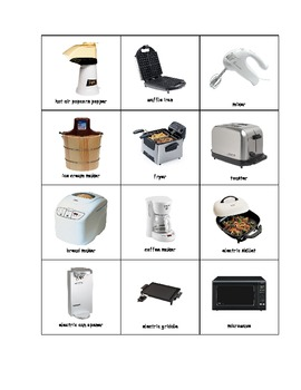 Special Education: Small Kitchen Appliances (Matching Book)