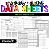 Life Skills + Social Play Data Forms | Editable Data Sheets