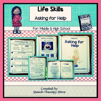 Life Skills Social Skills: Asking for Help Differentiated Lesson Plan