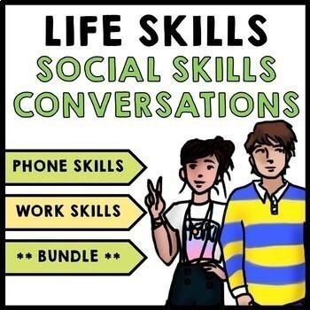 Life Skills - Social Skills - Workplace - Communication - Phone Skills - Bundle