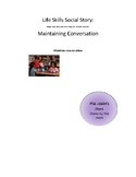 Life Skills Social Story: Maintaining conversation with picture cues