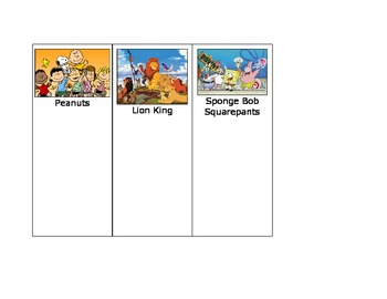 Life Skills: Sort the Cartoon Characters