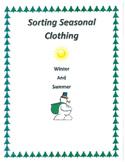 Life Skills Sorting Clothes to the Season
