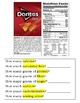 Life Skills - Special Education - Food Labels