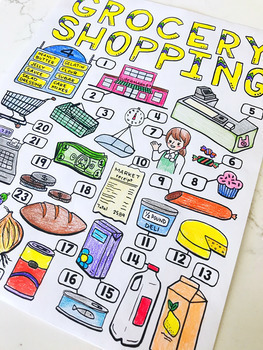 Life Skills - Special Education - Grocery Shopping - Road Signs - Coloring Pages