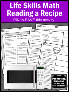 Life Skills Special Education Math Microwave Cooking Reading a Recipe Measuring