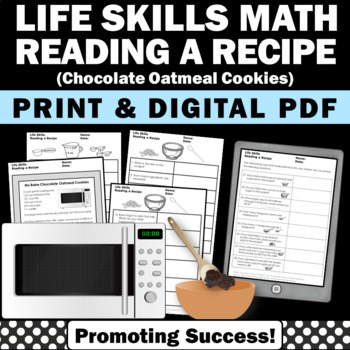Reading a Recipe COOKIES Life Skills Special Education and Autism Resources
