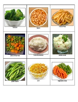 Life Skills Special Education: Sort School Cafeteria Foods