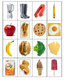 Life Skills Special Education: Things We Use vs. Things We Eat