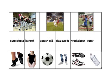 Special Education: Sports and Their Equipment - Match