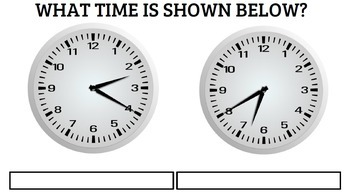 Life Skills TIME: Pre / Post Assessment on Time, Unit 1
