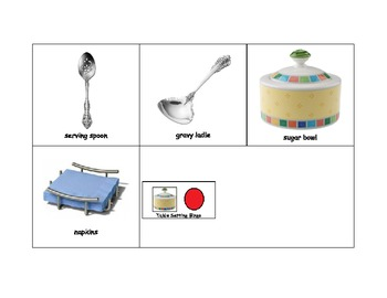 Life Skills: Table Setting Bingo Game