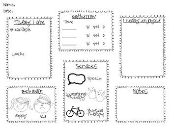 Life Skills Take Home Sheet