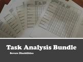 Task Analysis Bundle- Severe Disabilities 15 Data Sheets