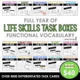 Life Skills Task Box Functional Vocabulary BUNDLE