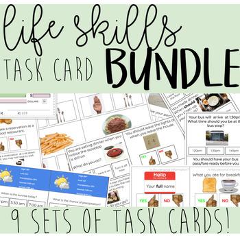 Life Skills Task Card BUNDLE!