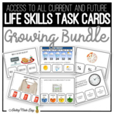 Life Skills Task Cards GROWING BUNDLE