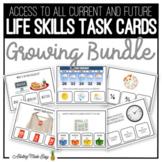 Life Skills Task Cards GROWING BUNDLE